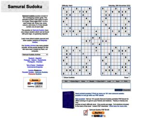 samurai-sudoku.com screenshot