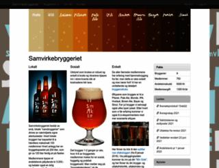 samvirkebryggeriet.azurewebsites.net screenshot