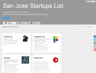 san-jose.startups-list.com screenshot