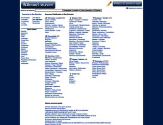 san-salvador.wanuncios.com screenshot