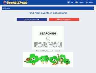 san_antonio.usa.eventsdroid.com screenshot