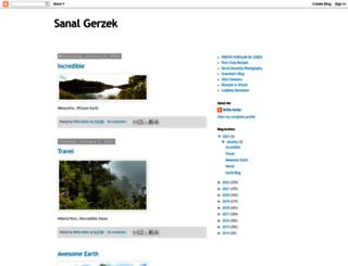 sanalgerzek.blogspot.com screenshot