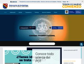 sanandres.gov.co screenshot