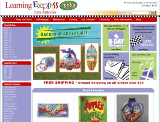 sanantonio.learningexpresstoys.com screenshot