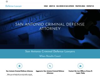 sanantoniocriminaldefenseattorney.com screenshot