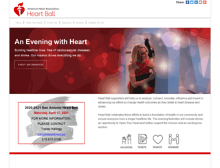 sanantonioheartball.ahaevents.org screenshot