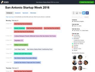 sanantoniostartupweek2016.sched.org screenshot