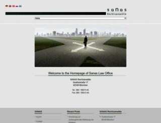 sanas-legal.de screenshot