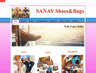 sanayshoes.com screenshot