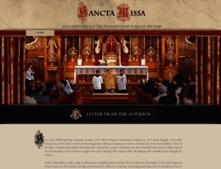 sanctamissa.org screenshot