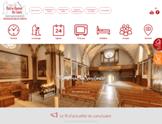 sanctuaire-notredamedulaus.com screenshot