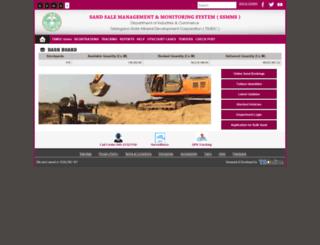 sand.telangana.gov.in screenshot