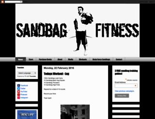 sandbagfitness.blogspot.com screenshot
