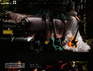 sandberg-guitars.de screenshot