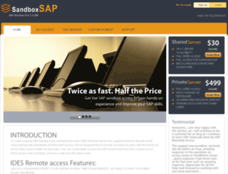 sandboxsap.com screenshot