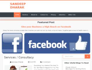sandeepdharak.in screenshot