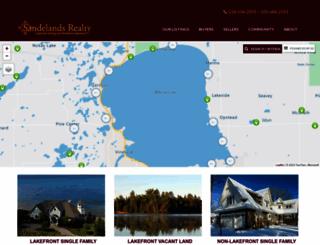 sandelandsrealty.com screenshot