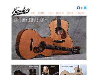 sandenguitars.com screenshot