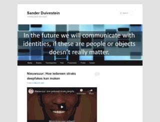 sanderduivestein.com screenshot