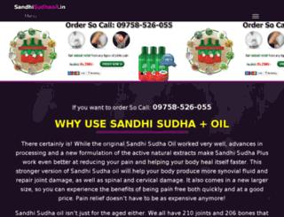 sandhisudhaoil.in screenshot
