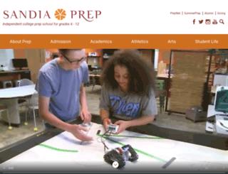 sandiaprep.org screenshot