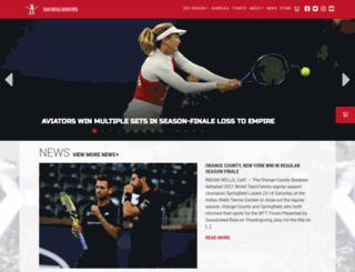 sandiegoaviators.com screenshot