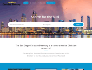 sandiegochristiandirectory.com screenshot