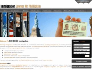 sandiegoimmigration.org screenshot