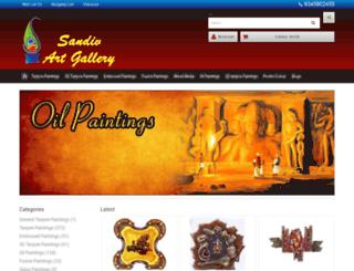 sandivartgallery.com screenshot