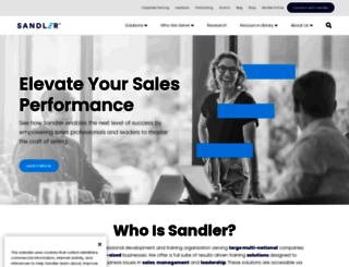 sandler.com screenshot