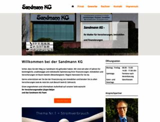 sandmann-kg.de screenshot