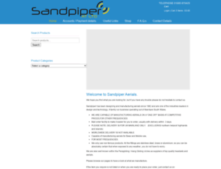 sandpiperaerials.co.uk screenshot