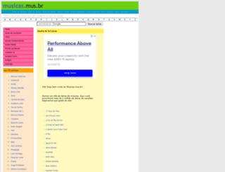 sandra-de-sa.musicas.mus.br screenshot