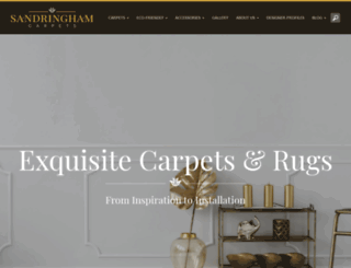 sandringhamcarpets.com screenshot