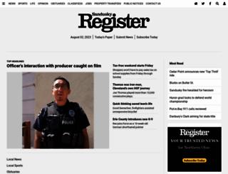 sanduskyregister.com screenshot