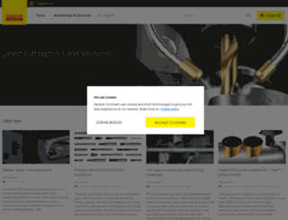 sandvik.coromant.com screenshot