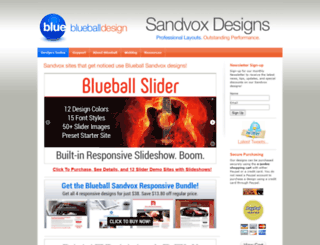 sandvoxdesigns.blueballdesign.com screenshot