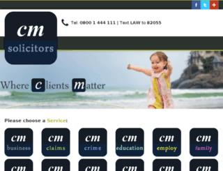 sandy.cmsolicitors.co.uk screenshot