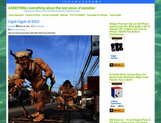 sandybali.com screenshot