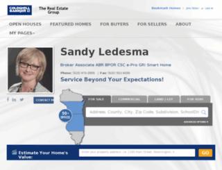 sandyledesma.com screenshot