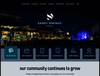 sandyspringsga.org screenshot