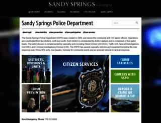 sandyspringspolice.org screenshot