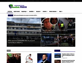 sandzakpress.net screenshot