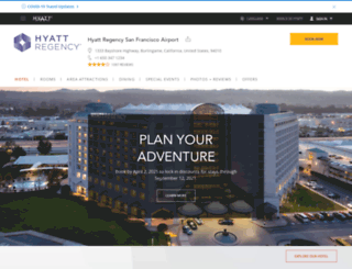 sanfranciscoairport.hyatt.com screenshot