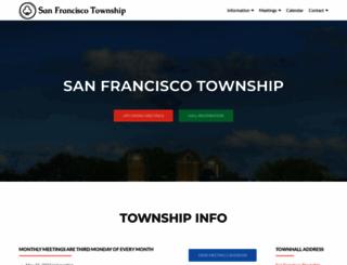 sanfranciscotownship.com screenshot