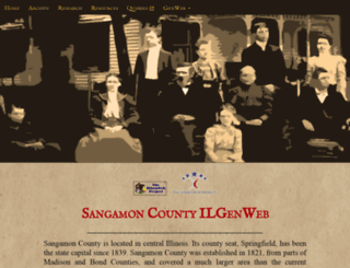 sangamon.illinoisgenweb.org screenshot