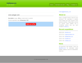 sangar.com screenshot