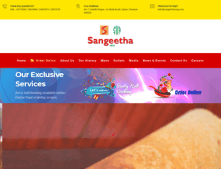 sangeethavegrestaurants.com screenshot
