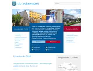 sangerhausen.de screenshot