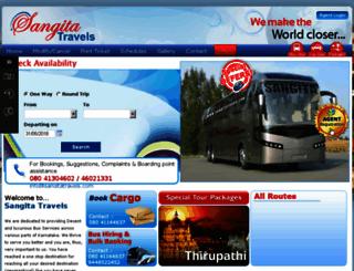 sangitatravels.com screenshot